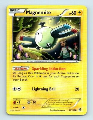 Magnemite 51/162 Non-Holo BREAKthrough Pokemon Card d15 ~ Played