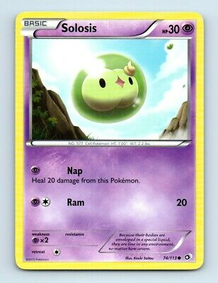 Solosis 74/113 Non-Holo Legendary Treasures Pokemon Card d17 ~ Played