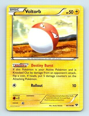 Voltorb 44/146 Non-Holo XY Pokemon Card d37 ~ Played