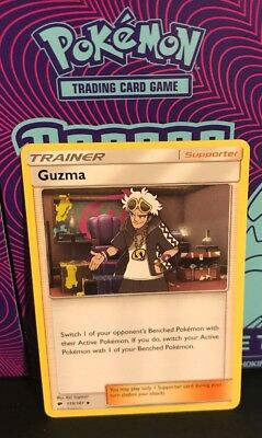 Pokemon Guzma 115/147 x5 Burning Shadows Uncommon Trainer
