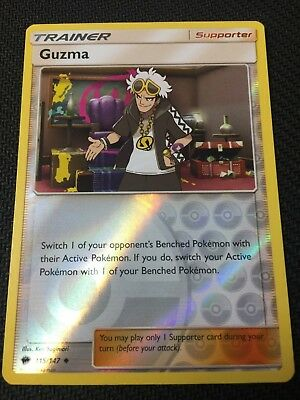 Pokemon : SM BURNING SHADOWS GUZMA 115/147 UNCOMMON REVERSE
