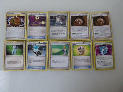 10 Pokemon Trainer Cards: Ether 121/135 Plasma Storm -  Skull Fossil 117/123