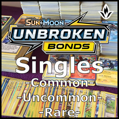Pokemon Cards - SM Unbroken Bonds - Singles, Choose Card - Common Uncommon Rare