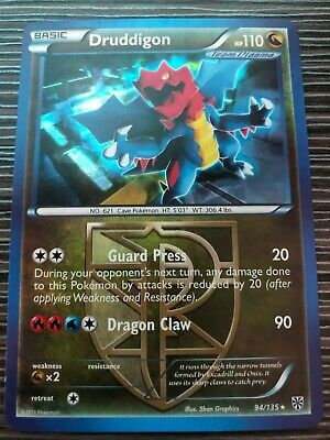 Pokemon : BW PLASMA STORM DRUDDIGON 94/135 RARE HOLO THEME DECK EXCLUSIVE