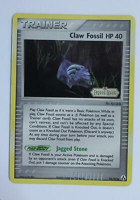 Pokemon Card - Claw Fossil HP 40 - 78/92 - Legend Maker - Reverse Holo