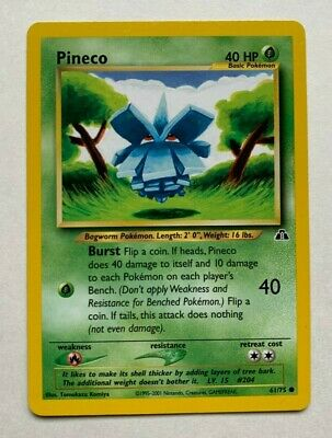 Pineco 61/75 - Common Pokemon Card - Neo Discovery Set 1995-2001 - NM