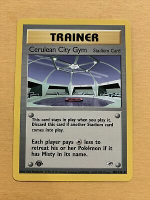 Pokemon Gym Heroes 1st Edition Trainer Cerulean City Gym 108/132 Uncommon