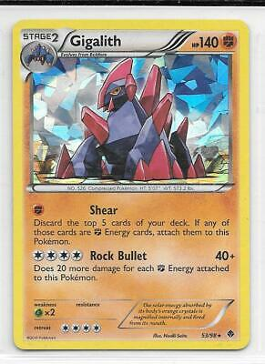 Pokemon --- Gigalith --- B/w Emerging Powers! Shattered Glass Holo! Mint! 53/98