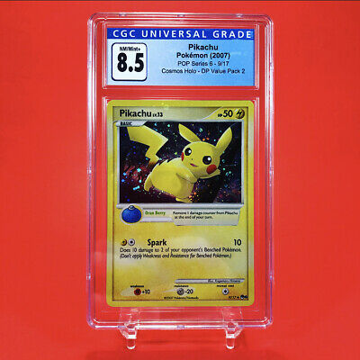 Pokemon Pikachu CGC 8.5 POP Series 6 holo Near Mint PSA Blister Pack Promo