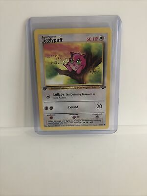 #2 Pokemon First 1st Edition Jungle Jigglypuff Psa Nm?