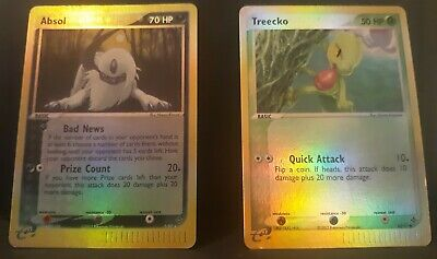 Absol 1/99 + Treecko 80/97 Rev. Holos Nintendo Pokemon ex Dragon Series, 2003 LP