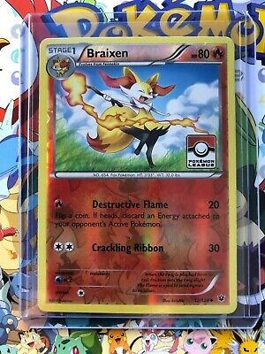 Braixen 12/124 Uncommon Reverse Holo XY Fates Collide NM Pokemon Stamped! - NM17
