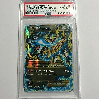 2014 Pokemon XY Flashfire Secret Rare M Charizard EX #108/106 PSA 10 GEM MT