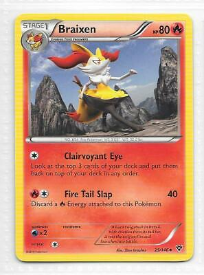 Pokemon --- BRAIXEN --- XY Base Set! RARE! MINT! 25/146