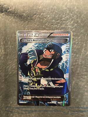 Archie's Ace in the Hole - Full Art Trainer 157/160 - XY Primal Clash - Pokemon