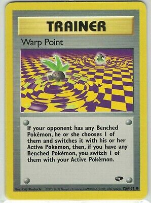 Pokemon Gym Challenge Warp Point Trainer 126/132 Common NM