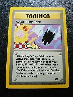 Pokemon Gym Challenge Koga's Ninja Trick Trainer Uncommon (115/132) NEAR MINT
