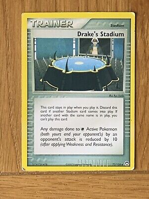 Pokemon Trading Cards EX Power Keepers Set Trainer Drake's Stadium