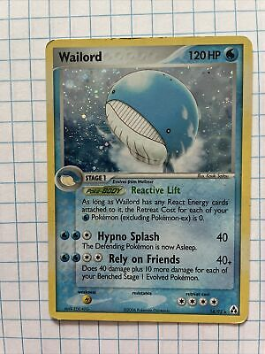 Wailord Holo Pokemon Card Legend Maker 14/92