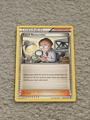 Pokemon Trading Cards Furious Fists Set Trainer-Supporter Fossil Researcher