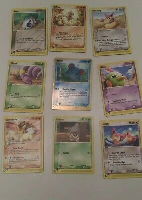 9 Pokemon Sandstorm 2003 cards Marill Holo