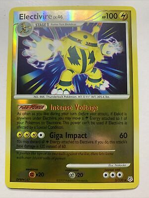 Pokemon Electivire 3/130 Reverse Holo Rare Card - Diamond and Pearl - LP