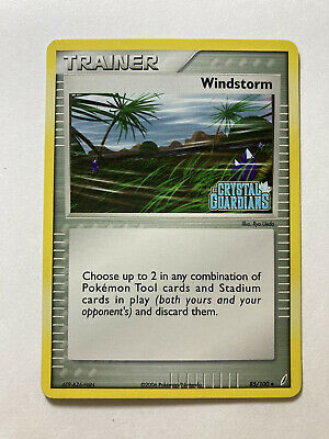 Windstorm 85/100 Holo EX Crystal Guardians Stamped Pokemon Trainer Card