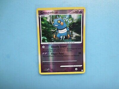 Pokemon Mysterious Treasures 78/123 Croagunk Reverse Holo Common Card
