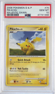 2008 Pokemon D&P Majestic Dawn #70 Pikachu PSA 10 Card GEM MINT! Diamond & Pearl
