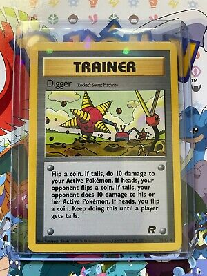 Team Rocket Unlimited Digger 75/82 Pokemon Trading Card LP NM - (A49)