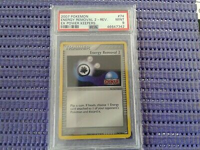 Pokemon ENERGY REMOVAL 2 Trainer 74/108 Reverse Holo Power Keepers (PSA 9)