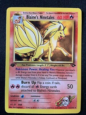 Pokemon 1st Edition Gym Challenge - Your Choice (Combined Shipping Offered)