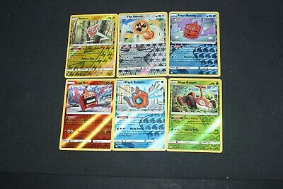 Pokemon Card EX-PL Reverse Holo Rotom All Forms Ultra Prism(Fan,Heat,Wash,Mow+)