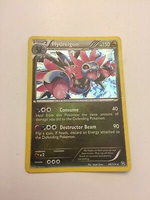2012 Pokemon Card Hydreigon 98/124 Dragons Exalted Holo Rare