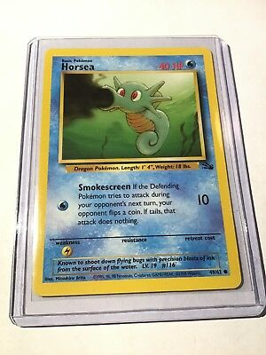 HORSEA - Fossil Set - 49/62 - Common - Pokemon Card - Unlimited Edition - NM