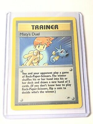 MISTY'S DUEL - Gym Heroes Set - 123/132 - Common - Pokemon Card - NM