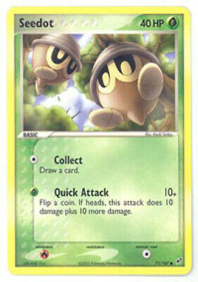 1x Seedot - 71/107 - Common - Reverse Holo Lightly Played Pokemon EX - Deoxys