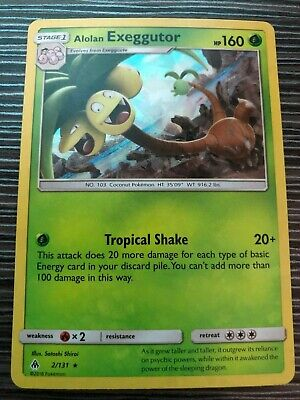 Pokemon : SM FORBIDDEN LIGHT ALOLAN EXEGGUTOR 2/131 RARE HOLO THEME DECK EXCL