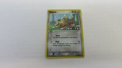 Slakoth Pokemon Ex Deoxys Rare 73/107 Stamped Holo Holographic Good Condition