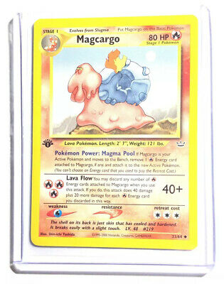 MAGCARGO - 1st Edition Neo Revelation - 33/64 - Uncommon - Pokemon Card - NM