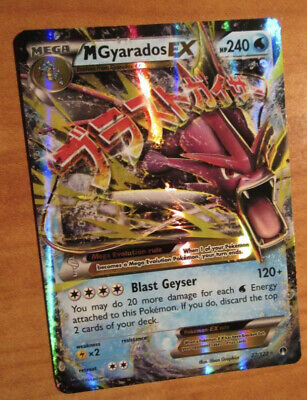 NM MEGA Pokemon M GYARADOS EX Card BREAKPOINT Set 27/122 XY X and Y Ultra Rare