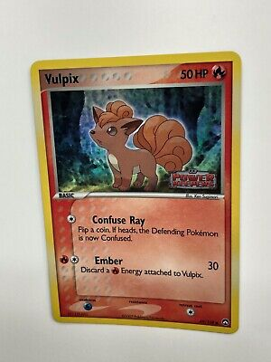 Pokemon Vulpix 69/108 EX Power Keepers Stamped Holo English Very Good-Excellent
