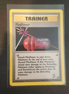 Wizards of the Coast PlusPower 113/130 Base Set 2 Pokemon Cards MP