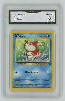 1999 Pokemon Jungle Unlimited #53 Goldeen Graded GMA 8 Nm-Mt Z33