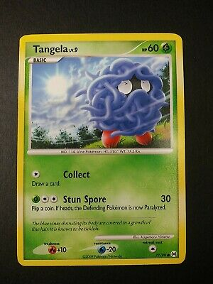Pokemon Platinum Arceus Tangela LV.9 Common Card 77/99 LP