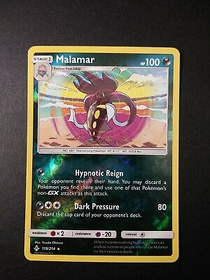 Pokemon Unbroken Bonds Malamar Reverse Holo Rare Card 119/214 NM