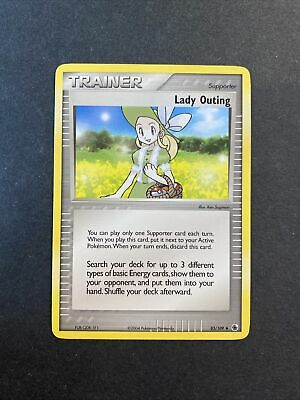 2004 Pokemon EX Ruby And Sapphire Trainer Lady Outing 83 /109 01