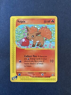 2002 Pokemon Aquapolis Set Vulpix 116 /147 (001)
