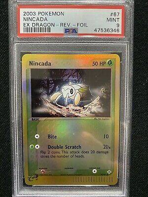 2003 Pokemon EX Dragon Nincada Reverse Foil 67/97 PSA 9 Mint