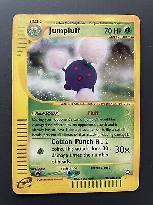 Jumpluff H13/H32 Holo Pokemon Card Aquapolis Set Pokémon Card
